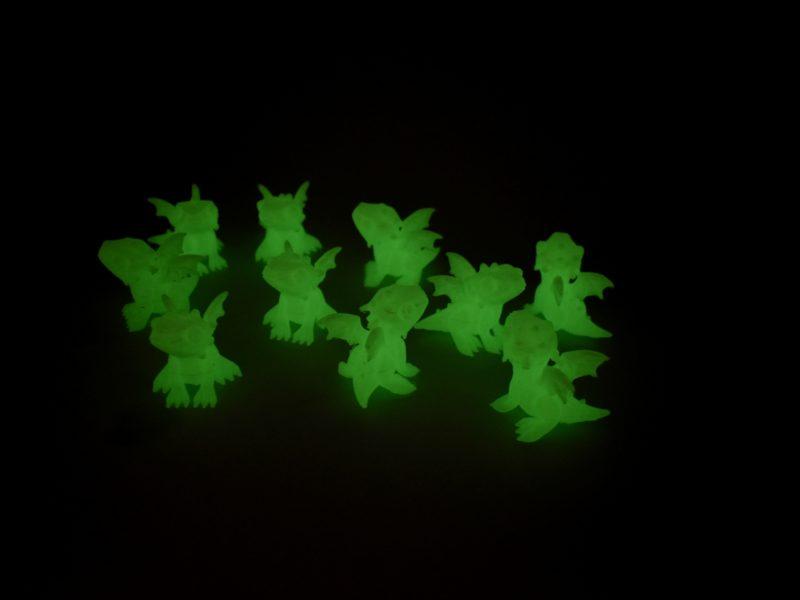 Glowing Mini Dragons